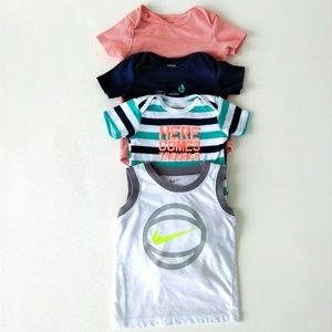 Carter's Brand Boys 18M Onsies+Shirt